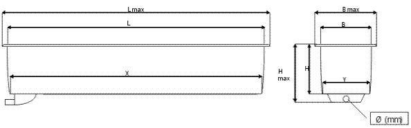 Схема прямоугольного бассейна для выращивания рыб SDK (RE)